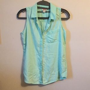 Mossimo Collared Button Up Tank Top